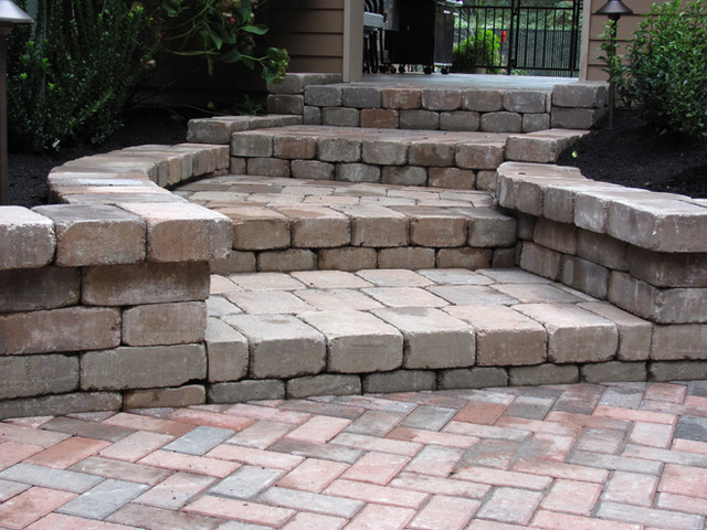 Steps, With Block and Pavers.JPG