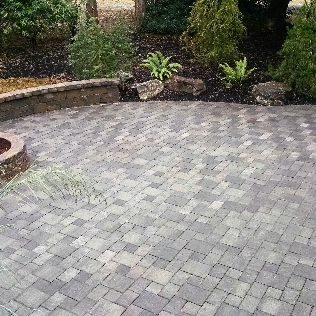 Fire Pit, Large Paver Pation and Sitting