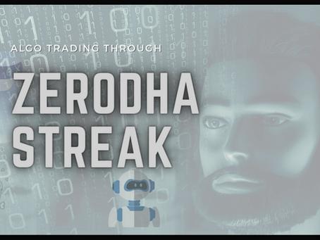 Algo Trading using Streak Zerodha Software for 2021 Market