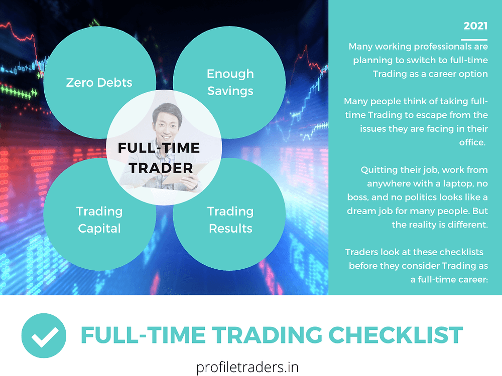 Full time trading (quitting 9-to-5 job) checklist - profiletraders.in