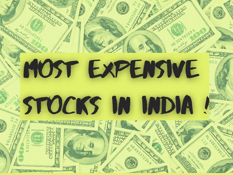 Top-15 Most Expensive Stocks in India (June 2021) | Profile Traders