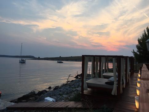 Sonnenuntergang Beachclub Kroatien
