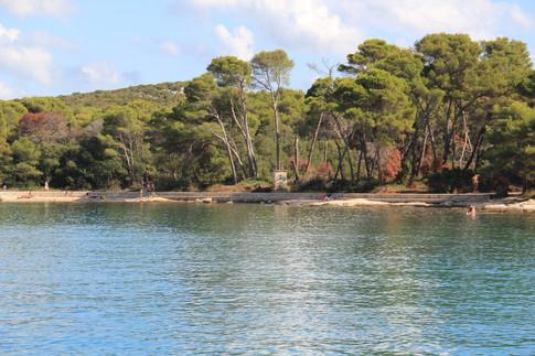 Einsame Bucht Kroatien