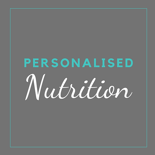 Personalised Nutrition Plan