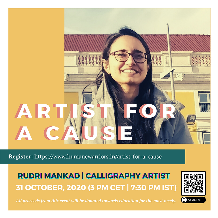 Calligraphy for cause with Rudri