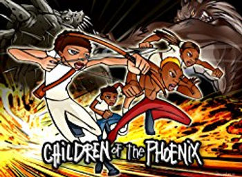 The Children of the Phoenix Retro print