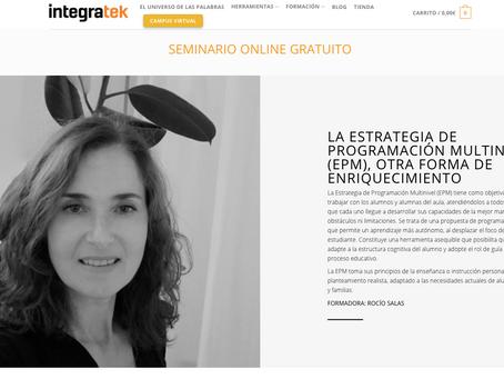 Rocío Salas presenta la Estrategia de Programación Multinivel , EPM