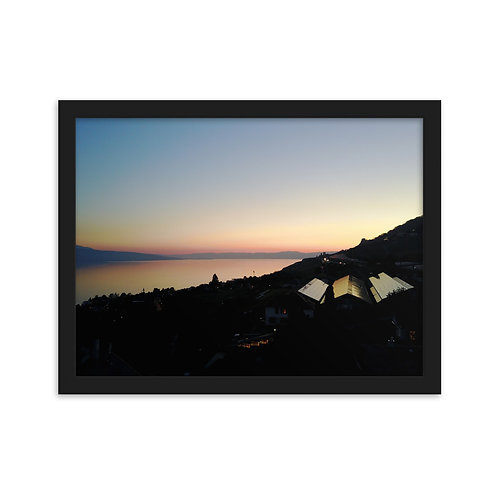 Frame Sunset on Léman