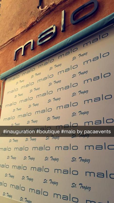 Inauguration boutique Malo à St Tropez