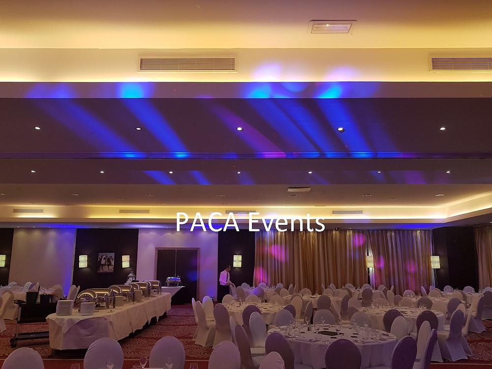 éclairage décoratif mise en lumière lounge soirée d'entreprise marseille