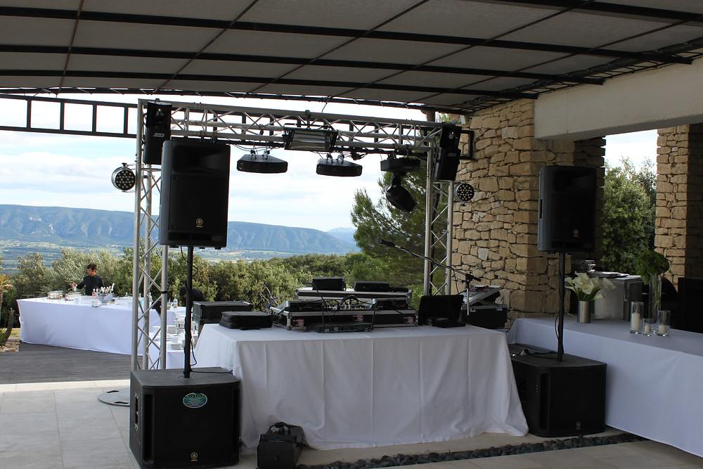 dj soirée mariage gordes vaucluse villa aqua