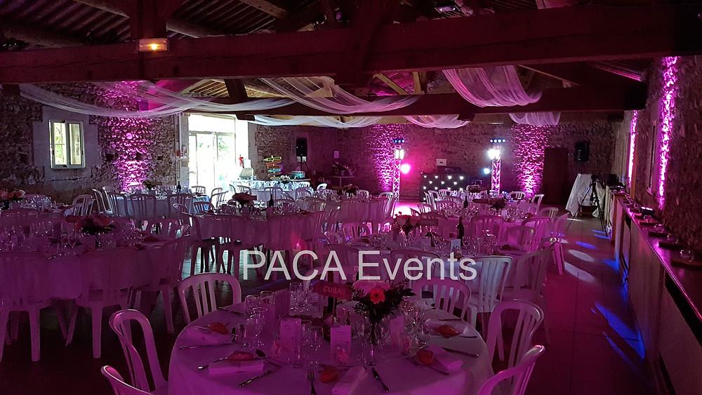 décoration lumière mariage salle éclairagiste éclairage devis tarif prestataire région paca