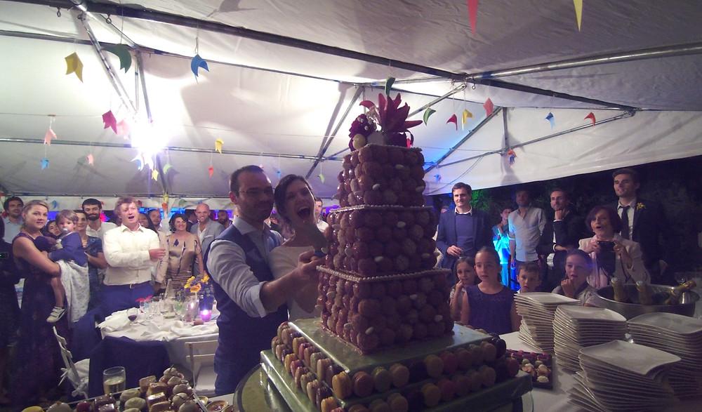 pièce montée mariage animation soirée réception Carpentras Vaucluse