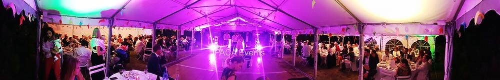 décoration mise en lumière tente éclairage barnum réception mariage vaucluse carpentras
