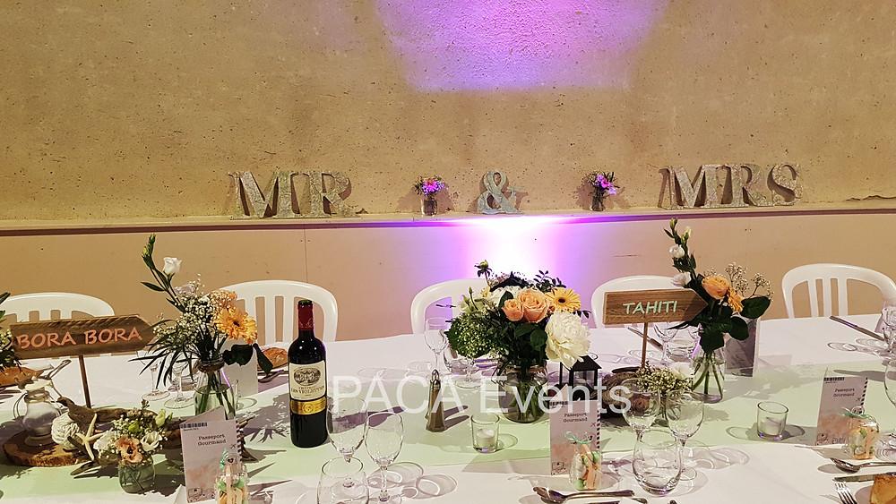 décoration idée tarif mariage réception marseille aix monaco cannes nices région paca