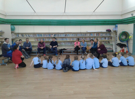 Our Junior Infants and their parents participated in the very enjoyable Sugradh Le Chéile Programme