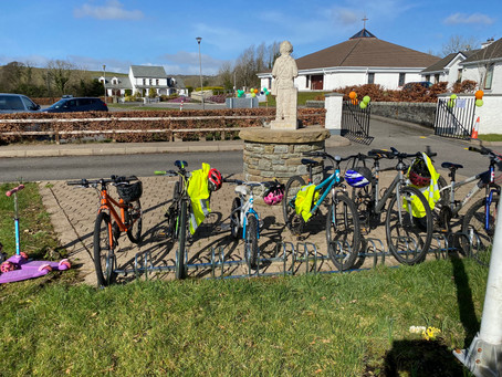 Great to see so many children cycle to school on these lovely Spring days