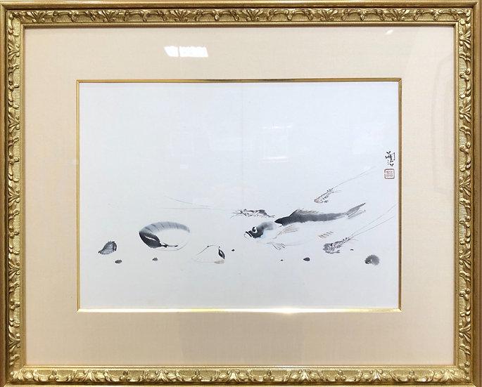 <商談中>藤田嗣治「海の幸」ゆったりとした筆さばき