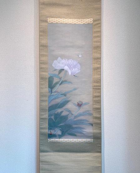 <売約済>徳岡神泉「牡丹」高貴な牡丹と蝶々