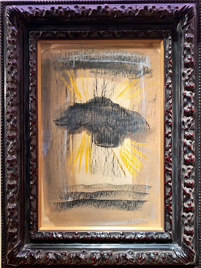 香月泰男「雲間の太陽」