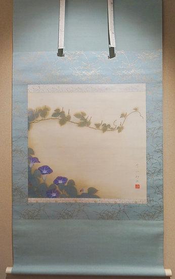 <売却済>福田平八郎 「朝顔」はかないからこそ美しい
