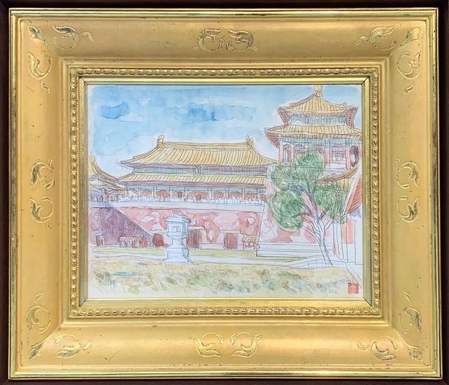安井曽太郎「紫禁城(北京)」