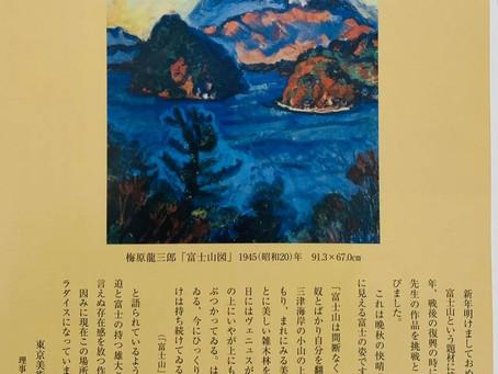 雄大な富士山と正面からぶつかり合う気迫 梅原龍三郎