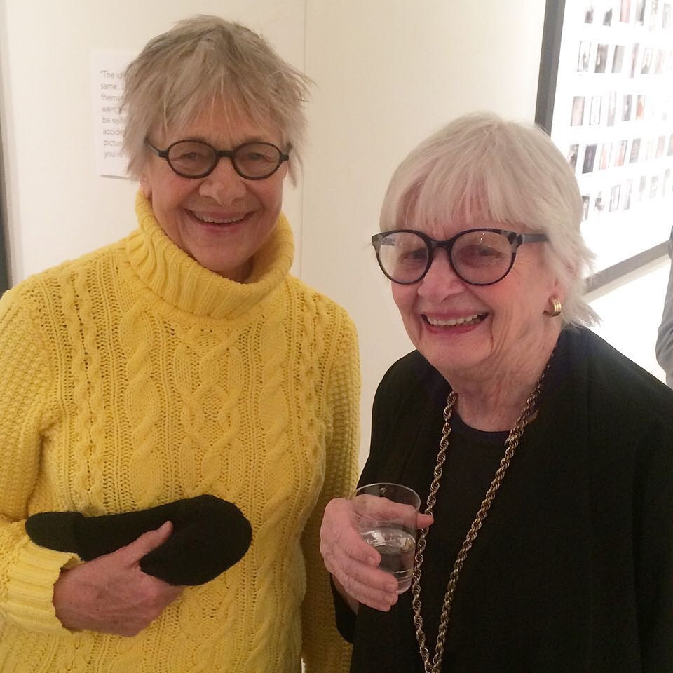 Patricia Bosworth (R) and Oscar-winner Estelle Parsons at The Staley-Wise book signing