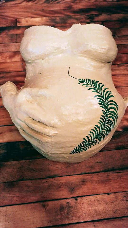 Finished Belly Cast + Massage