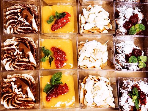 БОКС №7 Мини-десерты (Панна-котта, Тирамису, Эстерхази, Шоколадный...) 6шт/16шт