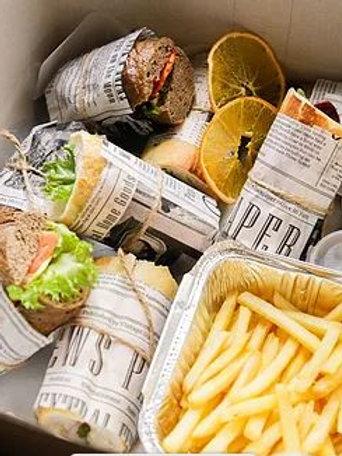 """БОКС №9 Хрустящий багет с колбасками, пепперони, картофель """"Фри""""... 8шт"""