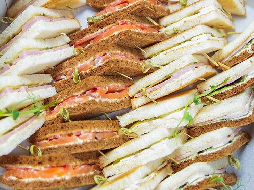 БОКС №6 Мини-сэндвичи (ветчина, корнишоны, куриное филе, томаты...) 8шт/28шт