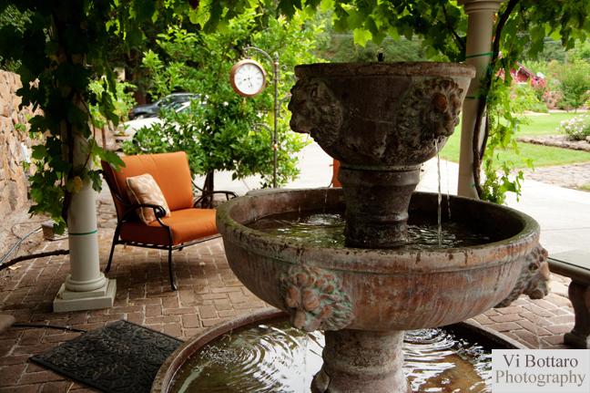 Fountain in Grape Arbor