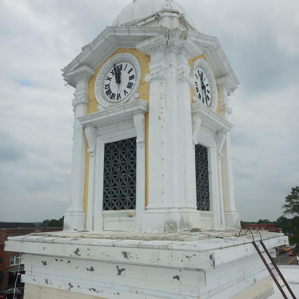 Exisiting terra-cotta clock tower