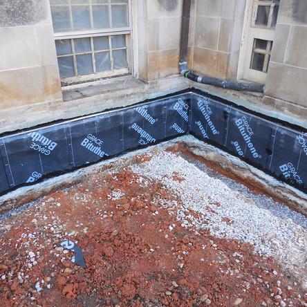 Bituthene membrane waterproofing was installed