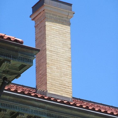 The completed chimney was left in total waterproof condition.