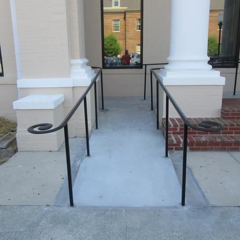 New handicap ramp and new handrails were installed