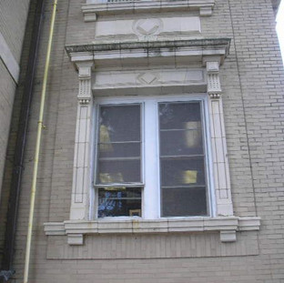 The same deteriorated conditions occurred at all windows. Existing wood windows were the original 1912 construction.