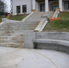 Finished concrete repairs.