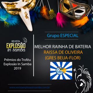 MELHOR RAINHA DE BATERIA - GRUPO ESPECIA