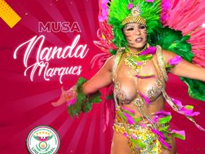 Nanda Marques é a nova musa da Lins Imperial para o próximo Carnaval