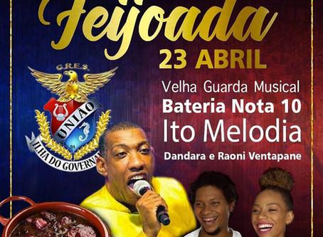 Caramba!!! Ito Melodia fará show em Feijoada para São Jorge na União da Ilha. Smaba da Velha Guarda