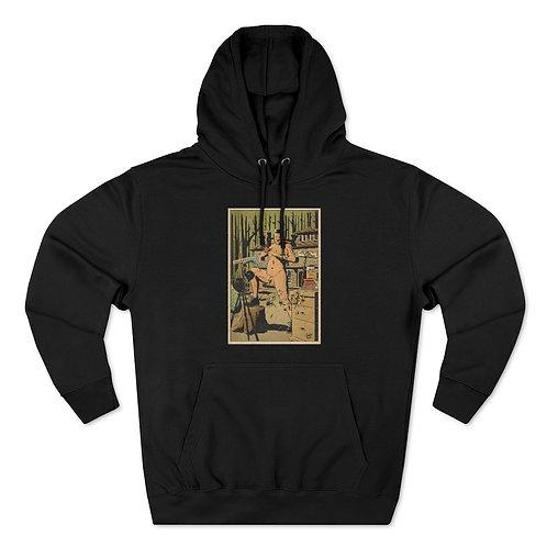 Rudy the Nudie - Unisex  Hooded Sweatshirt - BLACK/OATMEAL HEATHER