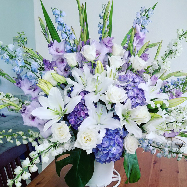 Blue and lavender