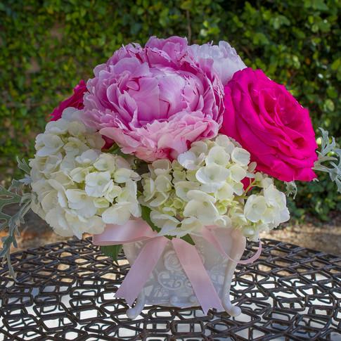 Pink, fushsia and white