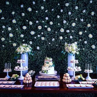 Dessert table floral arrangements