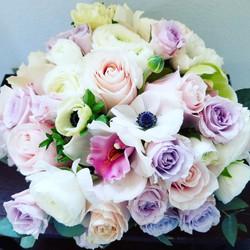 Light pastel colored bouquet