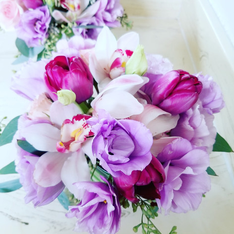 Orchid, tulip and Lisianthus