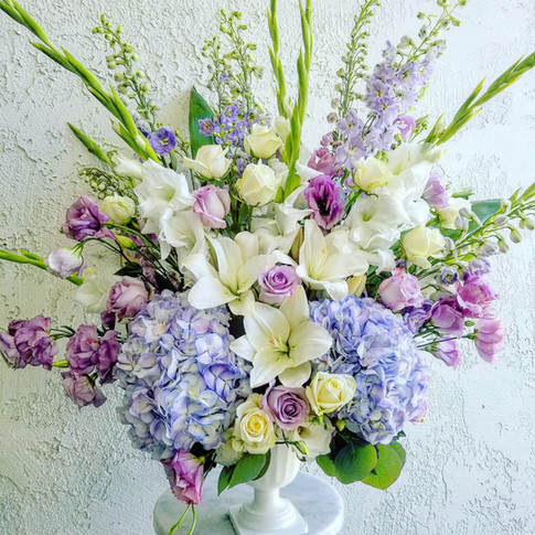 Light blue and lavender