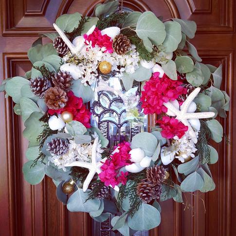 Holiday fresh eucalyptus wreath